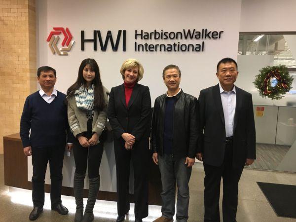 奥鞍高层访问美国HWI公司